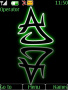 Alphabet A Neon themes