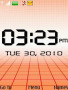 Orange Abstract Clock themes