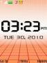 Orange Abstract Clock themes