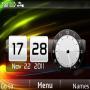 3D Rays Dual Clock themes