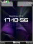 Clock Purple Free Mobile Themes
