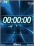 Blue Date Clock themes