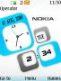 3D Nokia Dual Clock themes