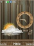 Brown Wall Live Clock Free Mobile Themes