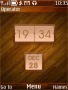 Glossy Wood Clock Free Mobile Themes