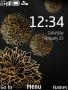 Brown Flower Clock themes