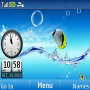Fish Clock Aquarium themes