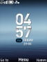 Blue Abstract Clock themes
