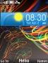 Rainbow Clock Lines themes