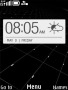 Black Htc One Clock themes