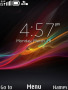Xperia Colors Clock S40 Theme themes