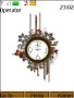 Swf Floral Abstract Clock themes