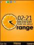 Orange 3D Clock S40 Theme themes