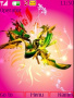 Abstract Pink Flowers S40 Theme themes