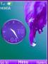 Purple Dropy Clock S40 Theme themes