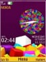 Colorful 3D Blocks S40 Theme themes