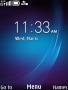 Blue Art Effects Clock S40 Theme themes