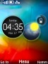 Abstract Colors Clock S40 Theme themes