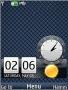 Strips Blue Nokia Clock S40 Theme themes