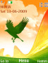 Green Bird Flying Sunset S40 Theme themes