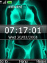 Animated Xray Bikini Clock S40 Theme themes