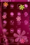 Abstract Purple Flowers IPhone Theme themes