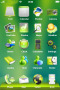 Green Lovely & ICons IPhone Theme themes