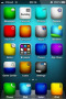 Icons Blue Abstract IPhone Theme themes