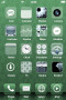 3D Design Green IPhone Theme themes