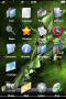 Green Abstract Plant IPhone Theme themes
