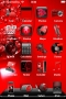 Red Abstract Orquis IPhone Theme themes