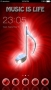 Red Music Note Free Android Theme themes
