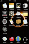 Solar Black & Fire Free IPhone Theme themes