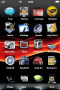 Abstract Classic Wave Red IPhone Theme themes