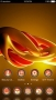 Abstract Digital Red & Yellow Android Theme themes
