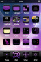 Purple Abstract Screen Art IPhone Theme themes