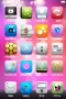 Pink Abstract Bubble Soft IPhone Theme themes