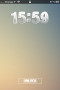 Lovely Clock Big View IPhone Theme themes