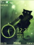 Kitty Black Clock S40 Theme themes