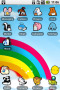 Animals & Rainbow Lines Android Theme themes