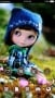 Cute Doll On Garden Android Theme themes