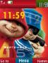 Chipmunk Clock themes