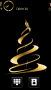 Golden Christmas Tree S60v5 Theme themes