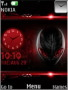 Red Alien Clock S40 Theme themes