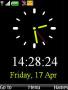 Simple Black Clock themes