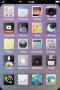 Purple Background IPhone Theme themes