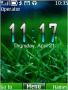 Green Nature Clock Free Mobile Themes