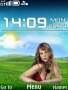 Girl On Field Nokia Theme themes