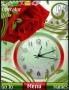 Rose Dual Clock S40 Theme themes