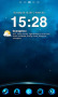 Blue Sky Night Clock Android Theme themes